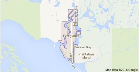 Map of the Florida Everglades.