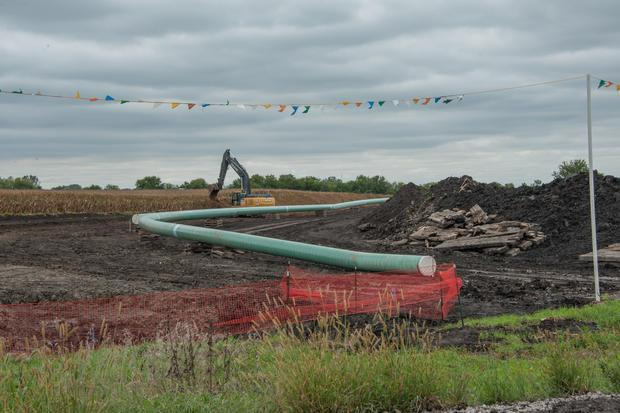 Dakota Access Pipeline being built in Iowa