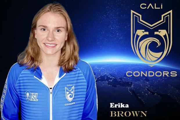 American swimmer Erika Brown of Cali Condors