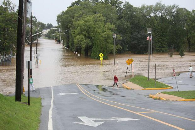 Flooding on Howard Street in Elkton  Maryland