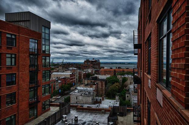 Hurricane Irene approaching Cobble Hill  NY