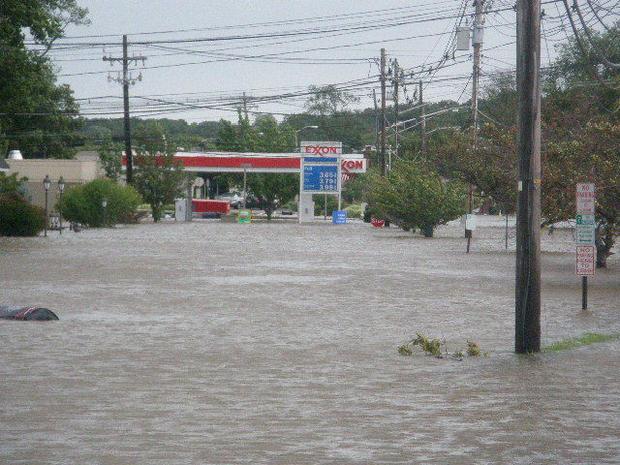 Hurricane Irene floods the streets of Denville  NJ