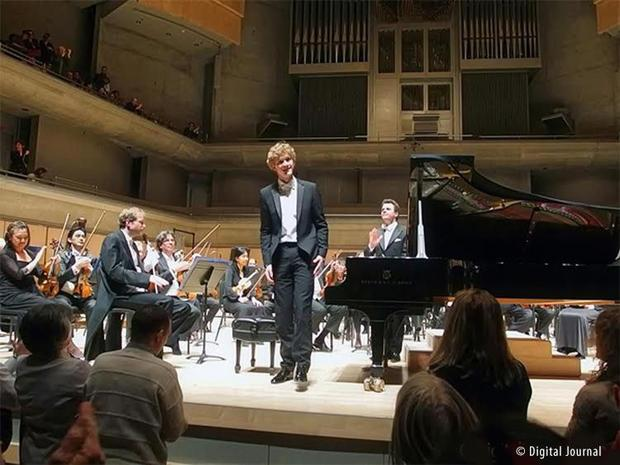 Pianist Jan Lisiecki performs with the TSO at Roy Thomson Hall.