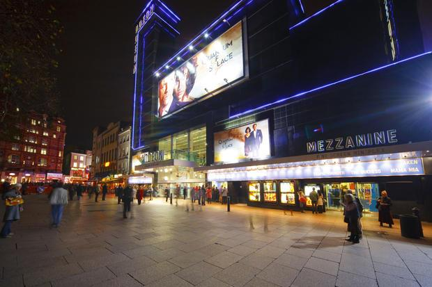 The cinema at Leicester Square  London