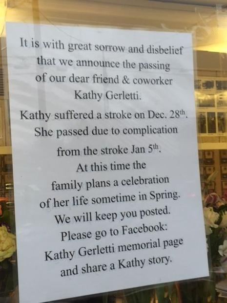 El Verano Post Office in Sonoma put up a notice on the window regarding the loss of one of their sta...