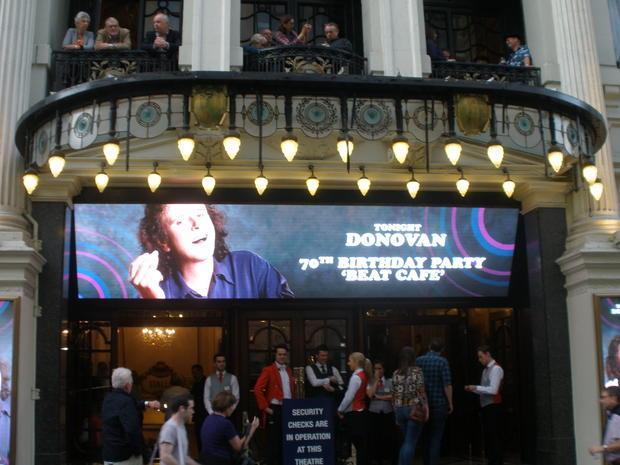 Donovan at the London Palladium.