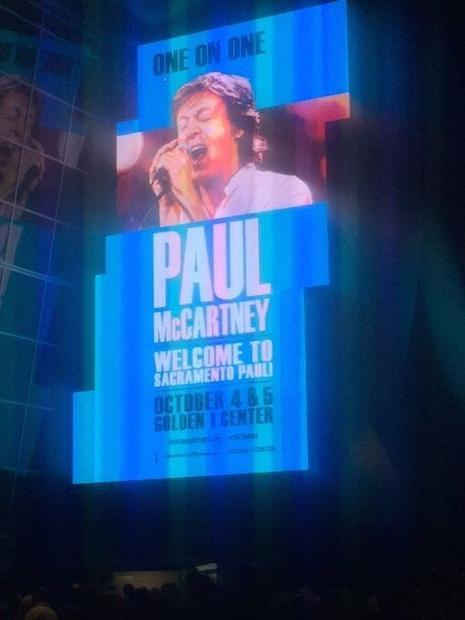 Paul McCartney as he appeared on stage in Sacramento this past Oct. 3 and 4.