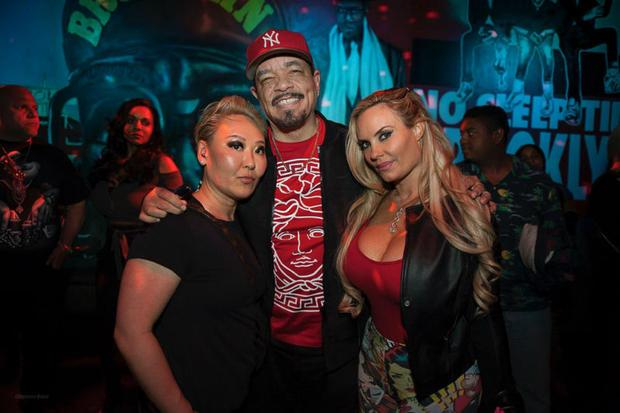 Emily Tan  Ice-T  and Coco at Schimanski New York
