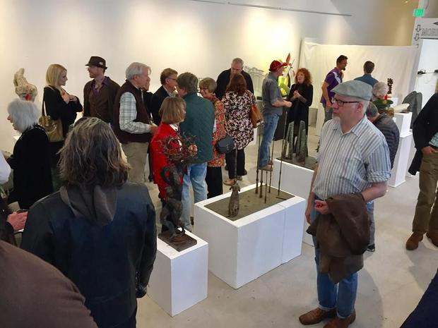 It was a full house turn out at the reception for the sculpture celebration exhibit in honor of Inte...