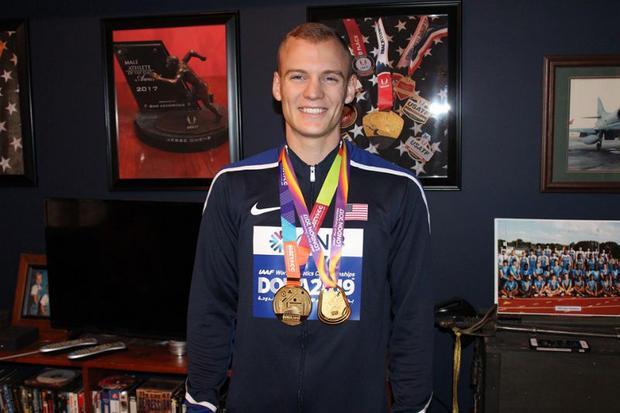 Two-time world champion pole vaulter Sam Kendricks
