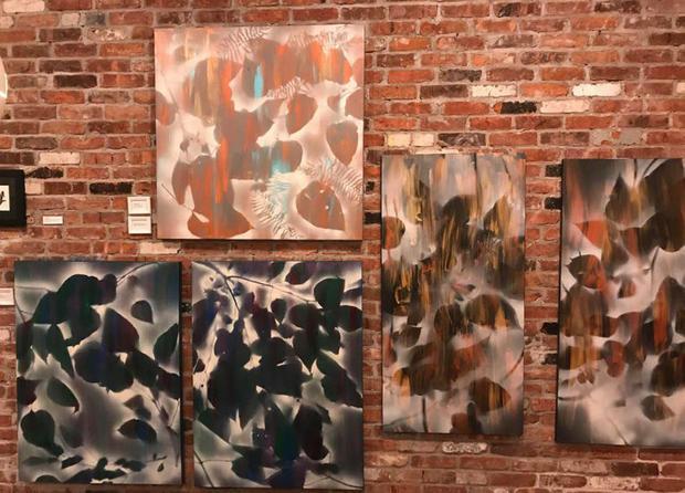 Art display at Spotlight NY
