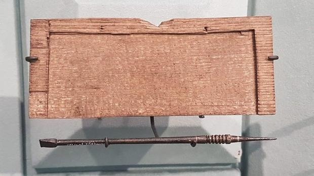 Buried under 20ft of mud for nearly 2 000 years  these simple Roman wooden tablets are the earliest ...