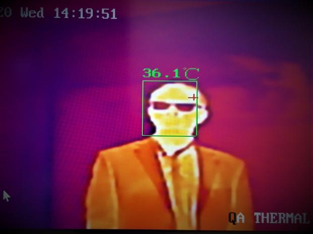 thermography scan of Tim Sandle - monitoring skin temperature during COVID-19.