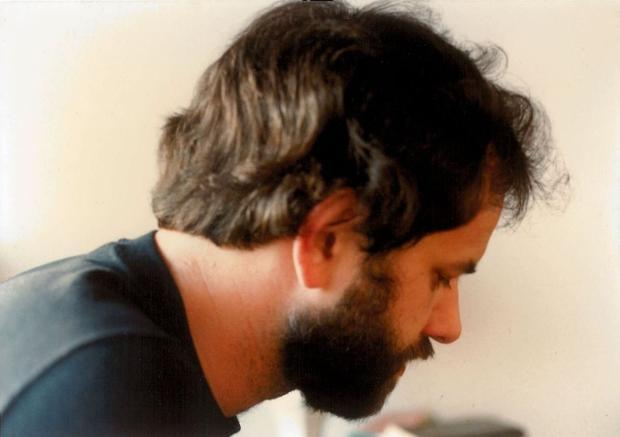 San Francisco film and theater critic and journalist Tom Mayer in younger days back in the 1980s.