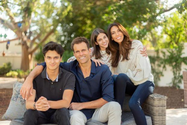 Cameron Mathison with his family