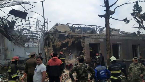 Ganja  a city of more than 330 000 in western Azerbaijan  has come under fire  Baku said