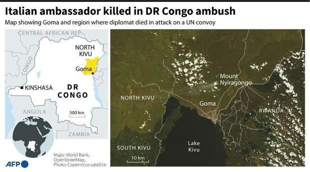Italian envoy killed in DR Congo attack