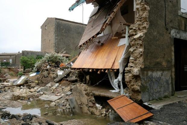 The storms were triggered when a front of warm humid air from the Mediterranean Sea slammed into col...