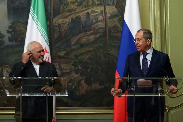 Russian Foreign Minister Sergei Lavrov and his Iranian counterpart Mohammad Javad Zarif meet in Mosc...