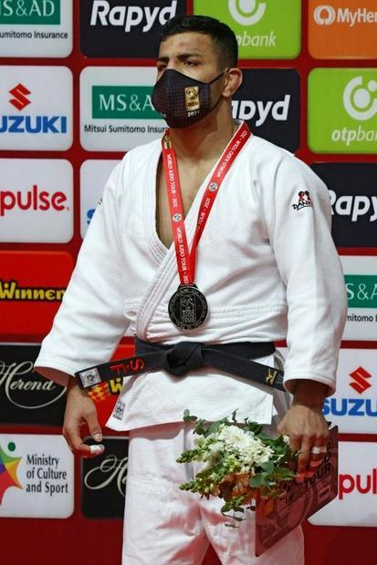 Now competing for Mongolia  Mollaei won the silver medal in the under 81kg category of the Tel Aviv ...