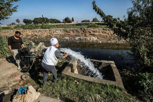 The Nile is a lifeline to Egypt  where 95 percent of the country's 100 million people live alon...