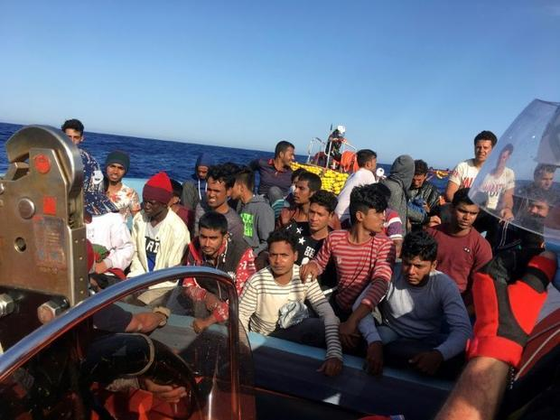 The 69-metre (226-foot) boat was turning in circles between Sicily and Malta