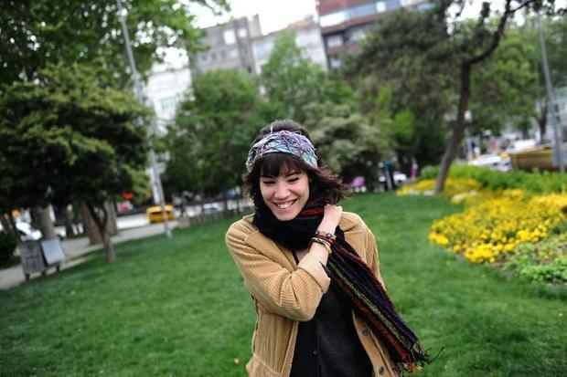 Turkish activist Melissa Kurtcan -- one of the first protesters to occupy Gezi Park  to save it from...