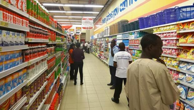 Shoppers look at goods in the new Shoprite outlet in Kano  northern Nigeria  on March 20  2014