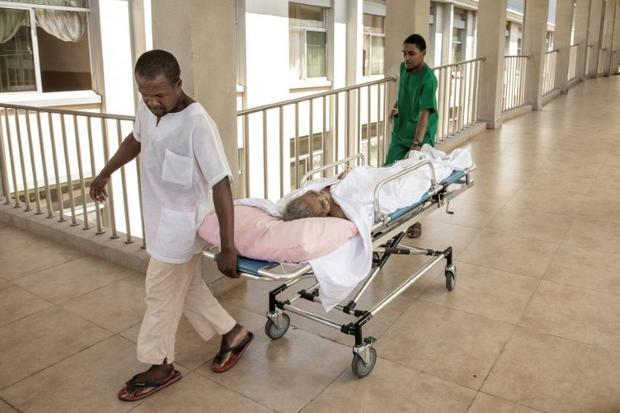 The hospital's halls are largely deserted as potential patients find treatments too costly