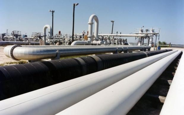 Crude oil pipes at the Bryan Mound site  the largest of the four SPR storage sites - near Freeport  ...