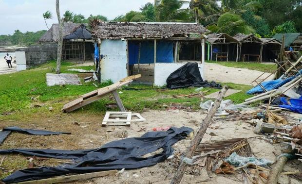 Damage caused by Harold near Vanuatu's capital Port Vila is shown on April 7. The storm is now ...