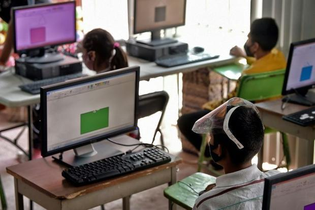 Some of the students had never used a computer before the pandemic struck