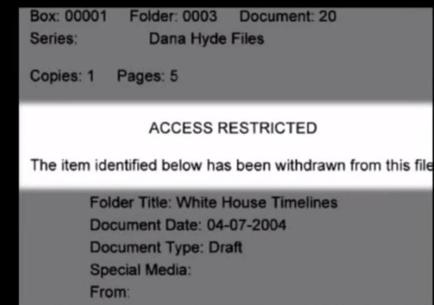 Access restricted note to vice presidential military aide Douglas Cochrane s testimony to 9/11 Commi...