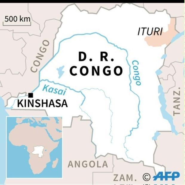 Ituri province is on DR Congo's eastern border with Uganda