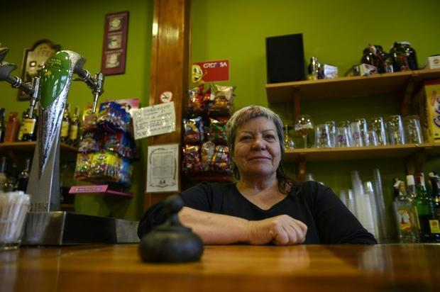 Paqui Bauza owns the only bar in Calomarde  where only 12 people now live year round