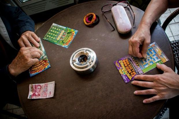 In the poorest areas of Bulgaria  one in 10 high school students buys a scratchcard every single day...