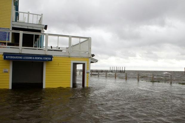 A shop floods in Rodanthe Sound as Hurricane Dorian hits Cape Hatteras