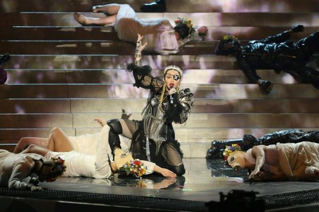 Madonna  seen here during a guest appearance at the Eurovision Song Contest in Tel Aviv in May  2019...