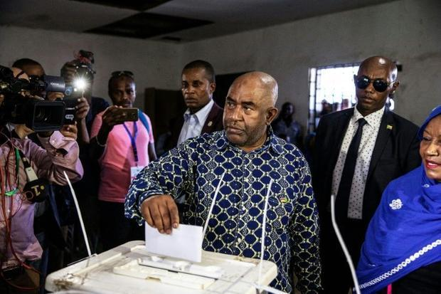 Comoros President Azali Assoumani played down sporadic incidents after voting on the main island of ...