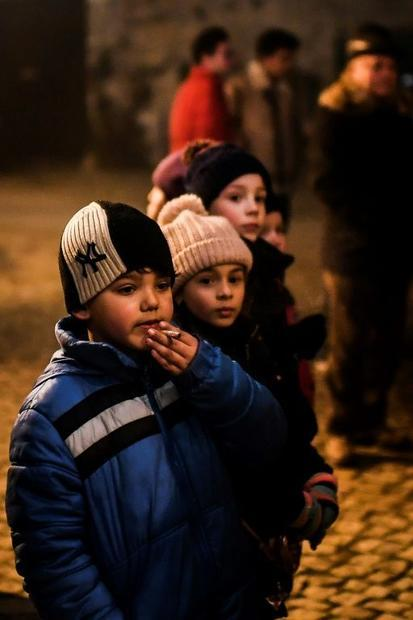 Children as young as five light up during the festival