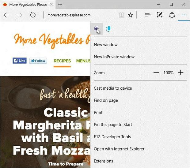 Extensions preview in Microsoft Edge