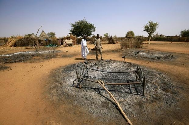The attack left some of the resident's basic wooden huts burned entirely to the ground