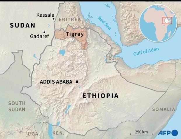 Thousands flee Tigray for Sudan