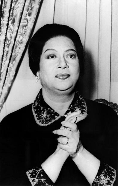 Egyptian singer Umm Kulthum  one of the Arab world's most revered singers  in the mid-1960s