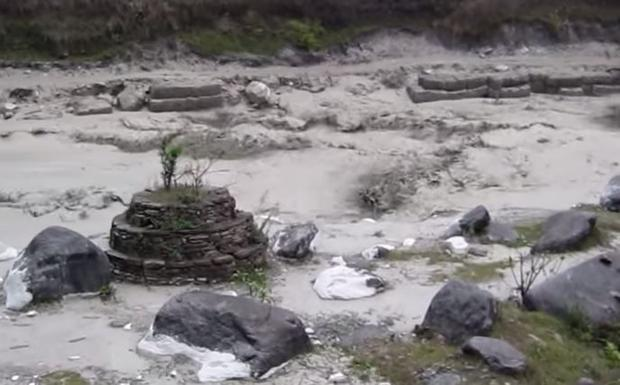 This devastating Glacial outburst flood hit around 8:30 AM and remained until 12:45 PM. This destruc...