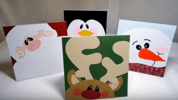 These Christmas cards are all handmade.