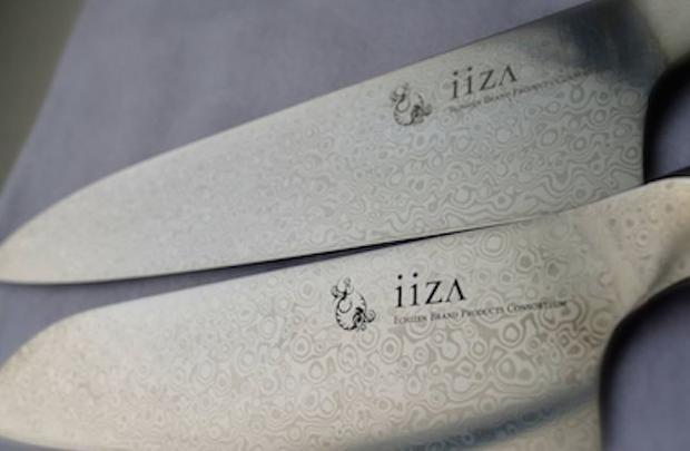 VG-10 steel is used in Echizen Brands Products Consortium s iiza kitchen knives  shown here in Damas...