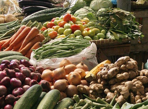 Vegetables on sale in a market in Bohol  Philippines.