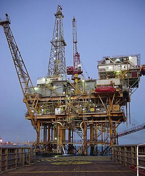 Offshore platform located in the Gulf of Mexico  port location Cd. Del Carmen.