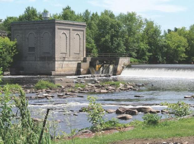 The Hogansburg Hydroelectric Dam was constructed in 1029. This is an image of the site before remova...